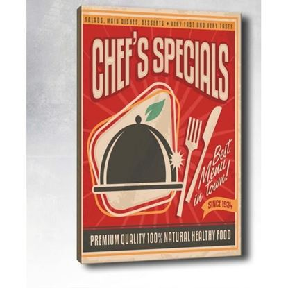 Pop Art Chef's Specials Kanvas Tablo resmi