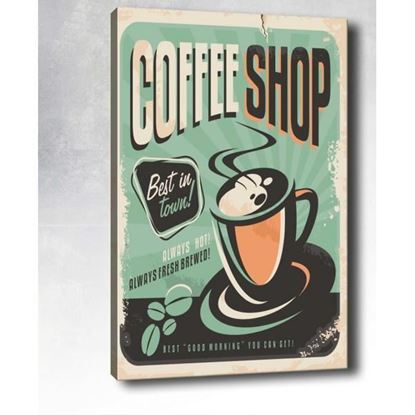 Coffee Shop Pop Art Kanvas Tablo resmi