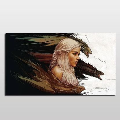 Daenerys Targaryen Pop-Art Kanvas Tablo resmi