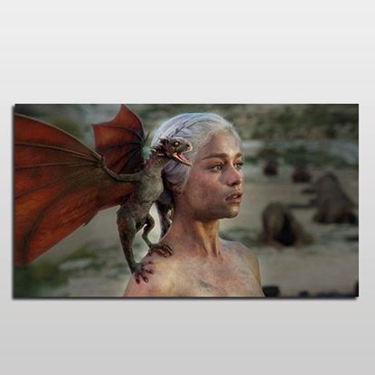 Daenerys Targaryen Pop-Art Kanvas Tablo-2 resmi