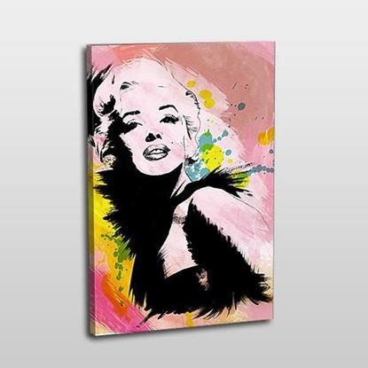 Marilyn Monroe Pembe Pop-art tablo resmi