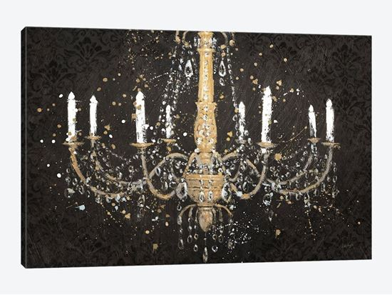 Picture of Grand Chandelier Black I - Canvas Print