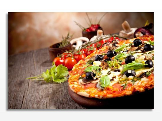 Picture of Zeytinli Mantarlı Pizza Kanvas Tablo