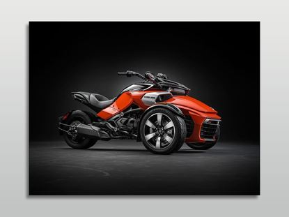 Can-Am Spyder F3S Motorsiklet Kanvas Tablo resmi