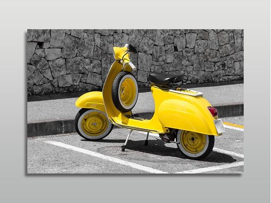 Picture of Sarı Vespa Motorsiklet Kanvas Tablo